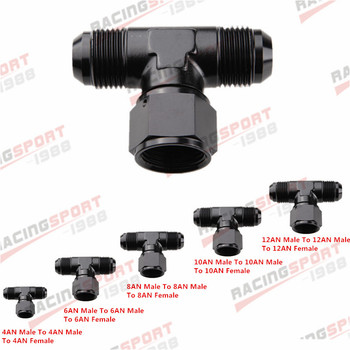 AN4 AN6 AN8 AN10 AN12 Female To Male Tee On Side Thread Fitting Adapter