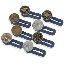 Регулируемая разборка, выдвижная кнопка для джинсов, удлиняющая талию, металлические кнопки с буквенным принтом, свободные Кнопки для шитья, Джокеры, увеличивающие талию