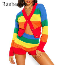 Женский спортивный костюм с v образным вырезом ranberone комплект