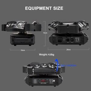 Image 3 - 새로운 도착 미니 LED 9x10W LED 스파이더 라이트 RGBW 16/48CH DMX 무대 조명 Dj LED 스파이더 이동 헤드 빔 빛
