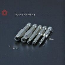 5 Teile/satz H3 H4 H5 H6 H8 Pentagon Schraubendreher Bohrer Teilen Fahrrad Sicherheit Bits 1/4