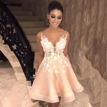Платье для выпускного вечера из органзы с глубоким v образным