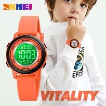 SKMEI Kinder Uhr Luxus Digitale Datum Display Uhr Mode Jungen Und Mädchen Armbanduhr Karton Stunde Kinder Uhren Für Geschenk