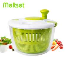 Salad Spinner Salad Tools Bowl Kitchen Accessories Manual Dryer for Vegatables and Fruits Home Mixer Gadgets Kitchen Tools цена 2017