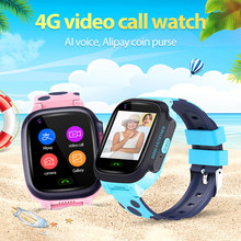 HD 4G Full Netcom Video llamadas con AI pago WiFi Chat GPS posicionamiento impermeable reloj inteligente para niños(China)