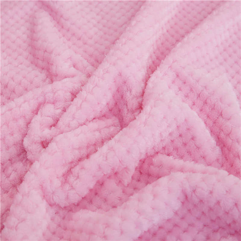 Winter Flannel Blankets Soft Fluffy Thicken Mink Throw Warm Bed Linens Sofa Cover Bedspread Blankets On The Bed