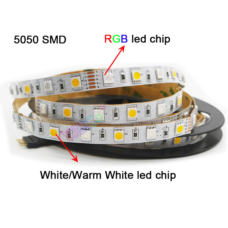 DC12V 24 в 5 м/лот 60 Светодиодный s/M RGBW RGBWW RGB CCT светодиодный светильник, RGB + (белый/теплый белый) SMD 5050 гибкий светодиодный светильник