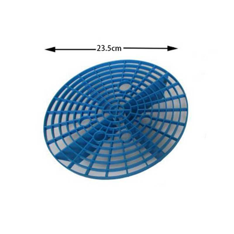 23.5 センチメートル洗車オイルグリッドフィルタ挿入洗濯板水バケツフィルターアンチスクラッチツールブルー 1 パック