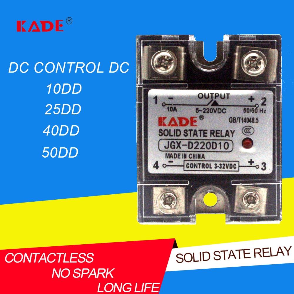 Управляемый постоянный ток постоянного тока, однофазный твердотельный реле с пластиковым пылезащитным покрытием, DD / 25DD / 40DD/50DD Реле      АлиЭкспресс
