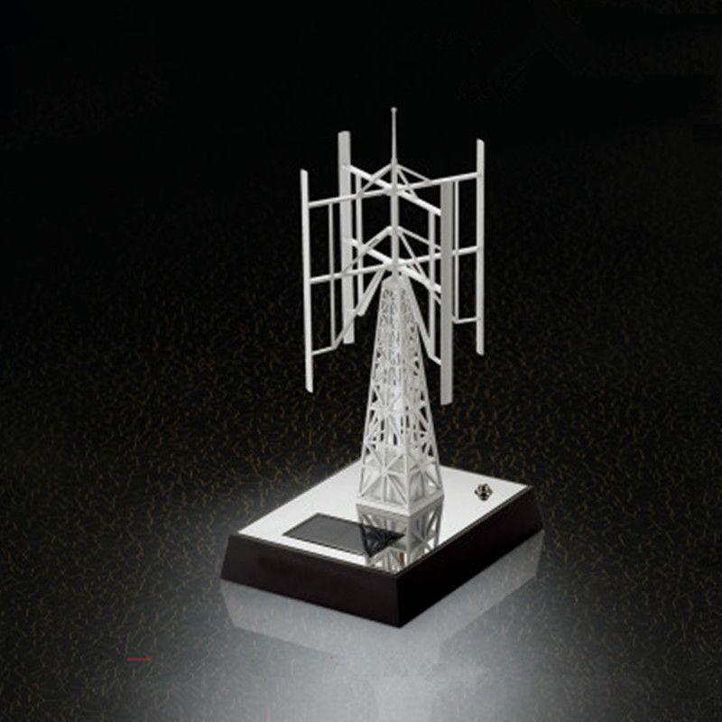 Educational Fan Model Of Solar Windmill Desktop Base Decoration Rotating Wind Generator