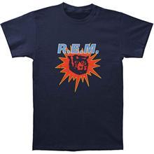 Authentic R.E.M. REM Monster Burst Slim-Fit T-Shirt Navy S-2XL NEW
