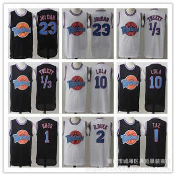 קלאסי חלל ריבה סרט Cosplay תלבושות גרסה רקום ג 'רזי כדורסל ללבוש לבן שחור לא. 34 ג' רזי