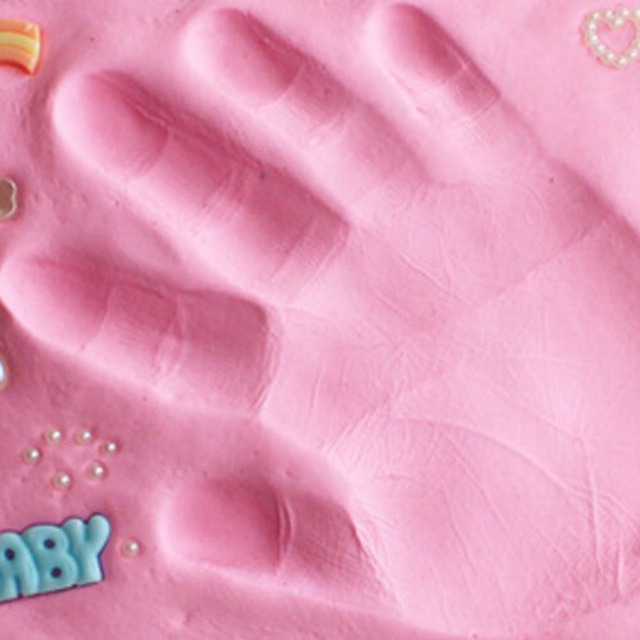 Baby Care Air Drying Soft Clay Baby Handprint Footprint Imprint Kit Casting Parent-child Hand Ink Pad Fingerprint DIY Toy Gift