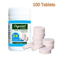 100 таблеток/бутылка с эффектом внимания многофункциональный бытовой стерилизации пузырьковый планшет для уборки дома очиститель для бассейна туалетный бассейн