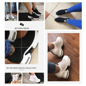 Image 5 - ฤดูร้อนสตรีภายในความสูงรองเท้า WEDGE แพลตฟอร์มลื่นบนรองเท้าผ้าใบลิฟท์