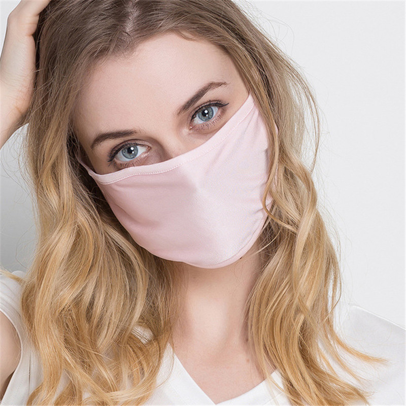 High Quality Men Women Silk Mouth Mask Safe Anti-virus Masks KN95 Activated Carbon Filter Windproof Anti-dust Mask Very Soft