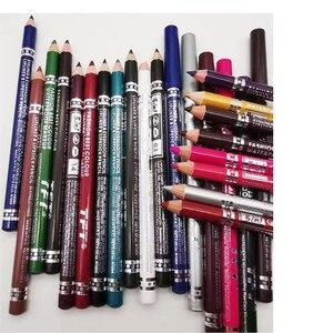 Image 3 - 1PC wodoodporna podwójna głowica wodoodporna ciecz znaczek Eyeliner Pen tatuaż tłoczenia Eyeliner ołówek narzędzia do makijażu