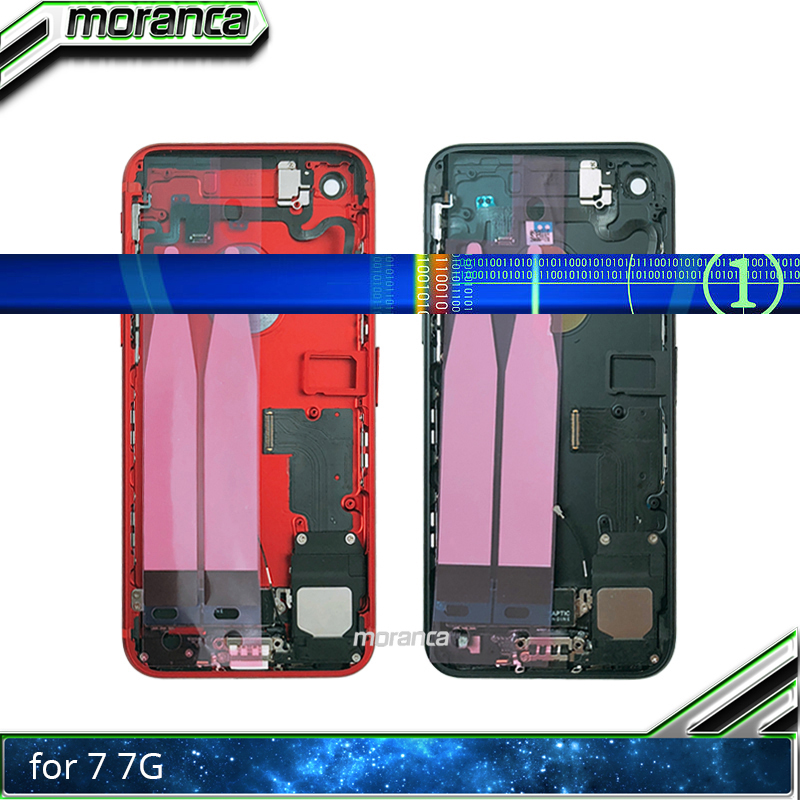 High Quality Chassis For IPhone 7 7G Plus 7Plus Back Full Housing Battery Door Rear Cover Middle Frame Body With Flex Cable