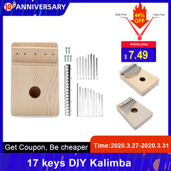 Prosty montaż 17 klawisze Kalimba Handwork DIY zestaw drewna palec kciuk fortepian 10-klucz Kalimba dla dzieci dzieci klawiatura instrumentu tanie i dobre opinie Beginner Kompozyty Z litego drewna Other 142g or 167g 11-50 As detail 10 keys 17 keys (optional) wood metal 167 * 125 * 35mm 6 6 * 4 9 * 1 4in
