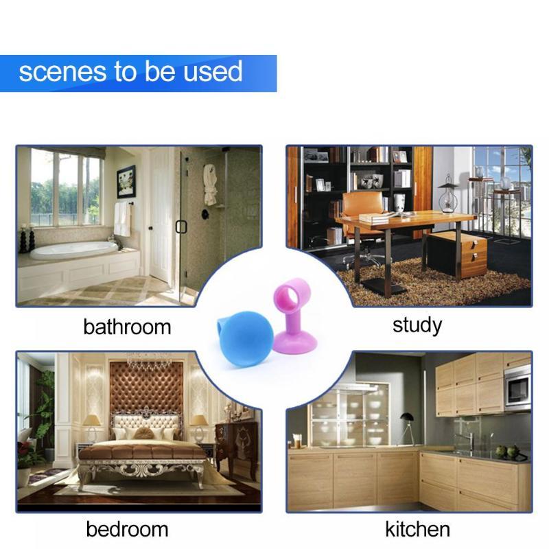 2pcs Soft Silicone Door Handle Silencer Anti-collision Doorknob Wall Crash Pad Durable Home improvement Accessories