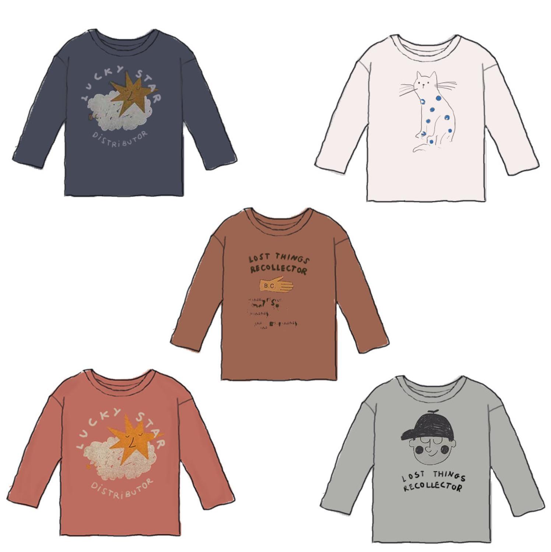Kids T Shirts 2021 New Autumn Brand Design Boys Girls Cute Print Long Sleeve Tops Baby Children Cotton Fashion T Shirts Clothes 1