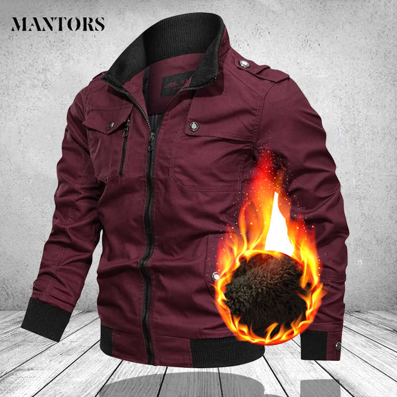 Winter Bomber Jacket Men Fashion Tooling Jacket Men's Winter Jackets and Coats Explosion Air Force Warm Jacket Male Streetwear