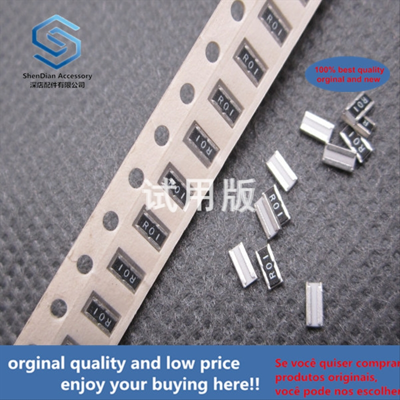 50pcs 100% Orginal New Best Quality SMD High Power Resistor ERJB2CFR01V 1.6x3.2 1206 1W 0.01R 10 Milliohms 10MR