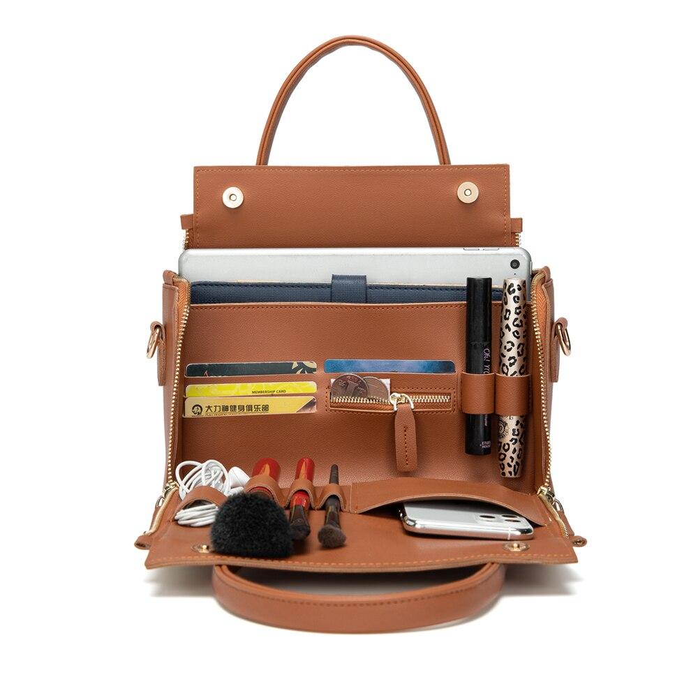Cobbler Legend Multifunctional Large Leather Handbag Roomy Organizer Shoulder Crossbody Bag For Women 2020 Lady Tote