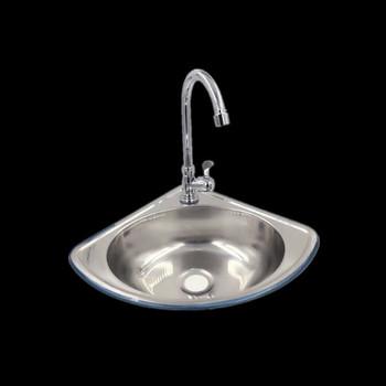 Trójkąt umywalka gruba ze stali nierdzewnej mały zlew ultra mały kąt pojedynczy umywalka umywalka umywalka do łazienki umywalka LU4281 tanie i dobre opinie WINZSC Z kranu Pojedyncze bowl STAINLESS STEEL Jeden Powyżej licznika Other 0435 Szczotkowane