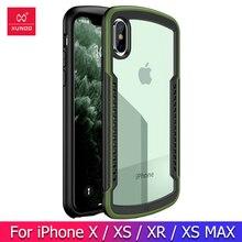 Caso à prova de choque para o iphone xr x xs max caso xundd pára airbag capa protetora transparente macio capa traseira vermelho verde