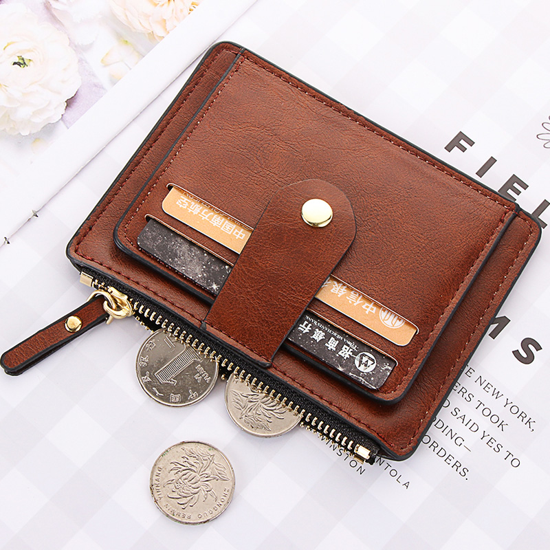 1Pc 2020 Credit ID Card Holder Slim Leather Wallet Business Purse Money Case For Men Women Black Fashion Card Wallet Woman Gifts