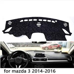 Нескользящий коврик для приборной панели с рисунком розы, коврик для приборной панели, коврик для ковра, автомобильный стикер для m-azda 3 2014 2015...