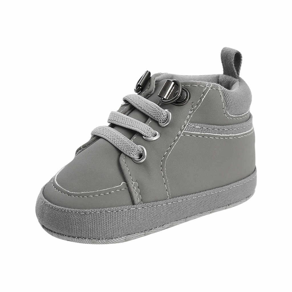 Botas entrecruzadas zapatos para bebé niña niños pequeños sólidos primeros caminantes suela suave Ourdoor cómodo invierno cálido chico zapatos scarpe neonato