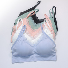 Bra Lace Sport-Bra Underwire-Sling Bralette Seamless Push-Up Sexy SVOKOR Without Brassiere-Back
