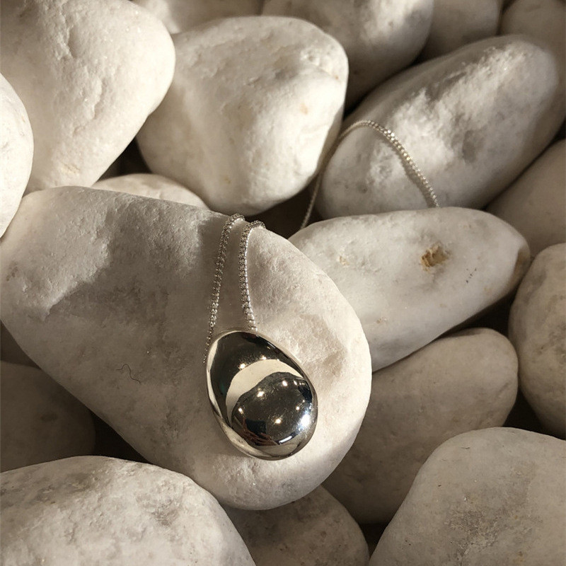 HUANZHI, новинка 2020 года, металлическая Геометрическая нестандартная Серебряная цепочка в стиле ретро, длинная цепочка, ожерелье для женщин и д...