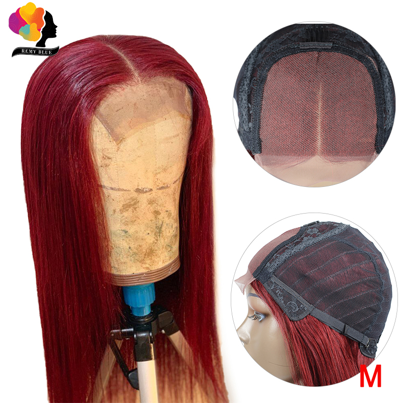 Remyblue 99J Red Burgundy Lace Front Human Hair Wigs For Black Women Straight Hair Lace Front Wig Brazilian Remy Human Hair Wigs