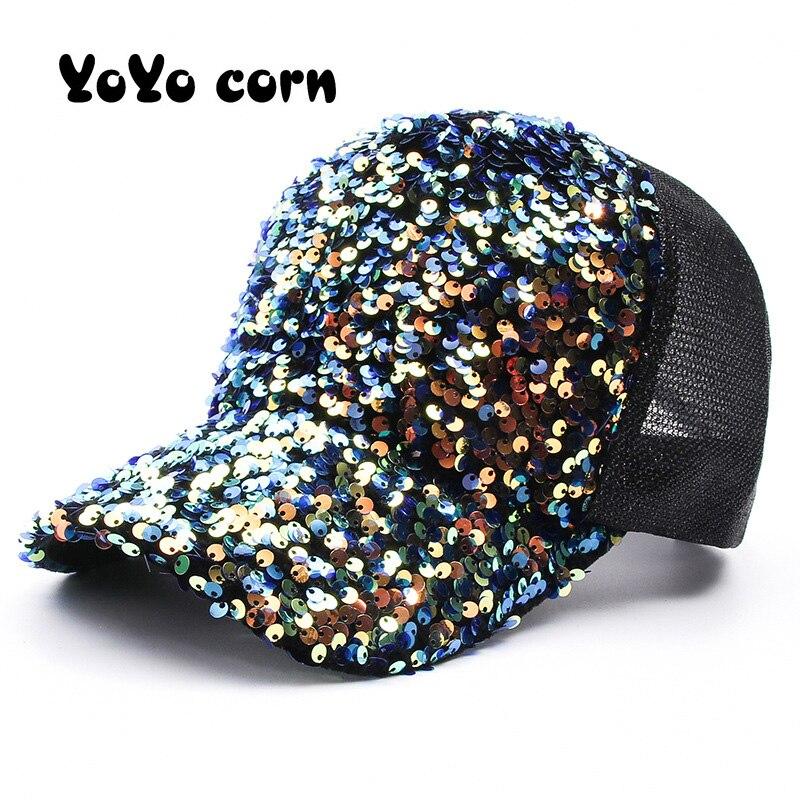 Gorro de algodón para papá Unisex con lentejuelas brillantes, gorras de béisbol con grafiti personalizado, Snapback, sombreros deportivos de moda para hombres y mujeres, gorra de hip hop