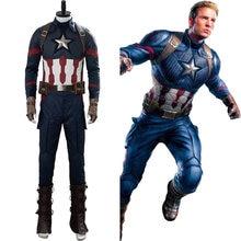 (Em estoque) capitão cos américa steve rogers cosplay traje adulto uniforme dos homens terno halloween carnaval traje