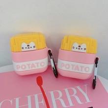 Potato Earphone Case For Airpods Case Silicone Cute Cartoon Bear Headphone Case for Apple Air pods C