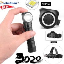Most bright 3 In 1 Muti-Function XHP50 LED flashlight magnetic charging can as headlights 12 lens torch built-in 18650 battery