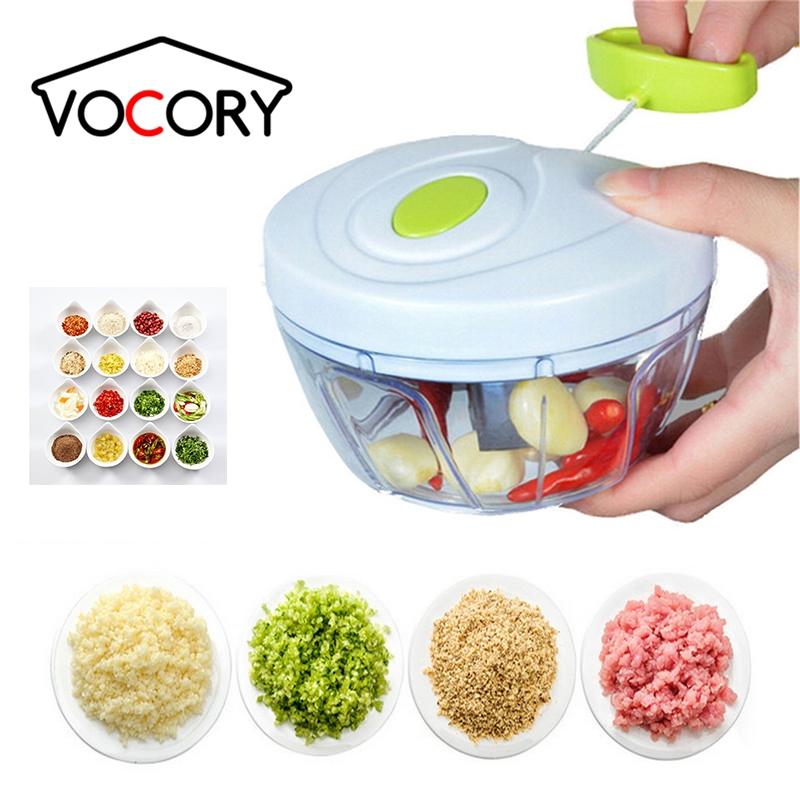 500/900ML Powerful Meat Grinder Hand power Food Chopper Mincer Mixer Blender to Chop Meat Fruit Vegetable Nuts Shredders
