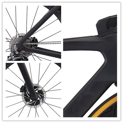 2020 New Road Bike Carbon Frame Internal Cable Disk Frameset Includes Handlebar Stem Fork Seatpost Headset Clamp Di2