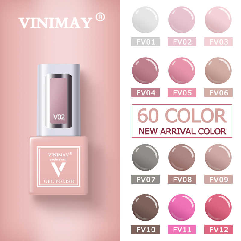 VINIMAY 60 Cor UV Unhas de Gel Unha Polonês vernis semi permanente Gel Lak Cartilha Gelpolish Embeber Off Nail Art Verniz Gel Manicure