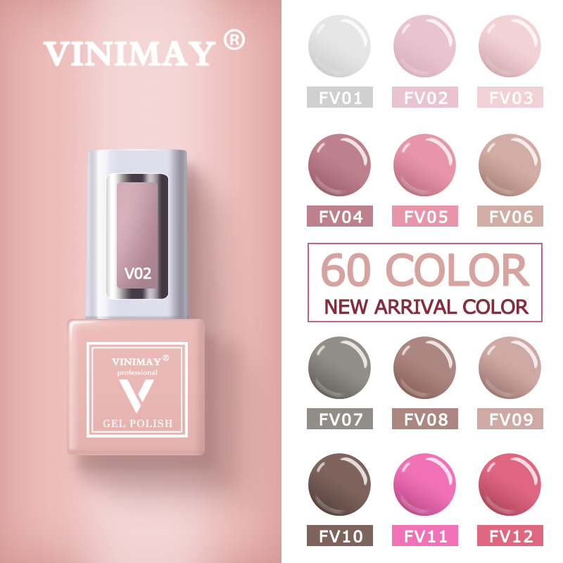 VINIMAY 60 Color Gel Nail Polish Vernis Semi Permanant UV Nail Gel Lak Primer Soak Off Nail Art Gel Varnish Gelpolish Manicure