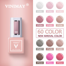 VINIMAY 60 Cor UV Unhas de Gel Unha Polonês vernis semi permanente Gel Lak Cartilha Gelpolish Embeber Off Nail Art Verniz Gel Manicure(China)