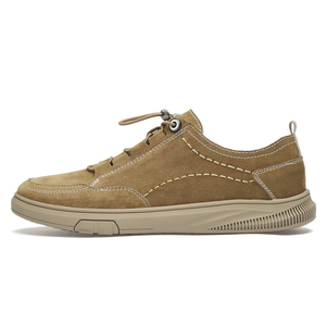 Image 4 - איש נעל זמש עור גברים של נעלי ספורט פנאי נעל הליכה הנעלה גומייה CLAXNEO 2020 אביב סתיו חדש