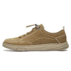 Image 4 - Zapatos de ante para hombre, zapatillas de deporte de cuero, calzado de ocio para caminar, CLAXNEO banda elástica, novedad primavera otoño 2020