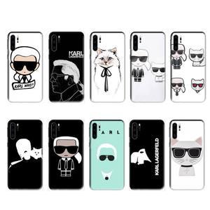 Lagerfeld Brand designer KARLs case for huawei p20 p30 p40 pro mate 10 20 30 pro lite p smart y7 2019 plus nova 3I cases cover(China)