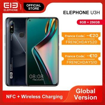 Перейти на Алиэкспресс и купить RUB12000-1000 CODE:GALKIN1000 В наличии ELEPHONE U3H смартфон 8 Гб 256 ГБ Восьмиядерный Helio P70 6,53 дюймFHD + 24MP селфи 48MP двойная камера Android 9 мобильный телефон