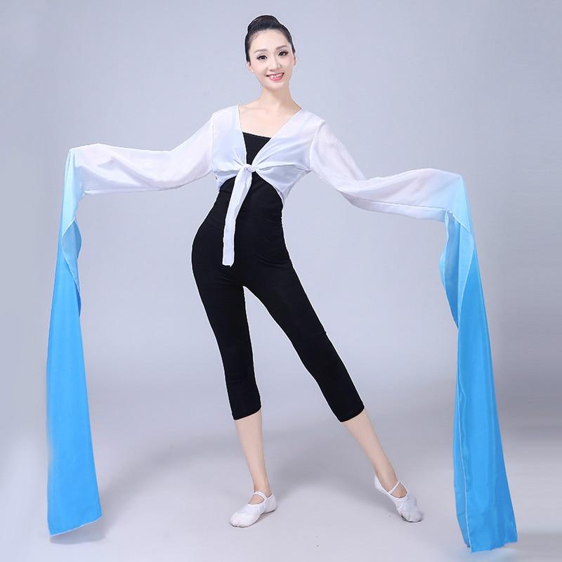 Chiffon Water Sleeves Yangko Dance Practice Tops Chinese Classical Dance National Hanfu Dance Beijing Opera Tibetan Costume